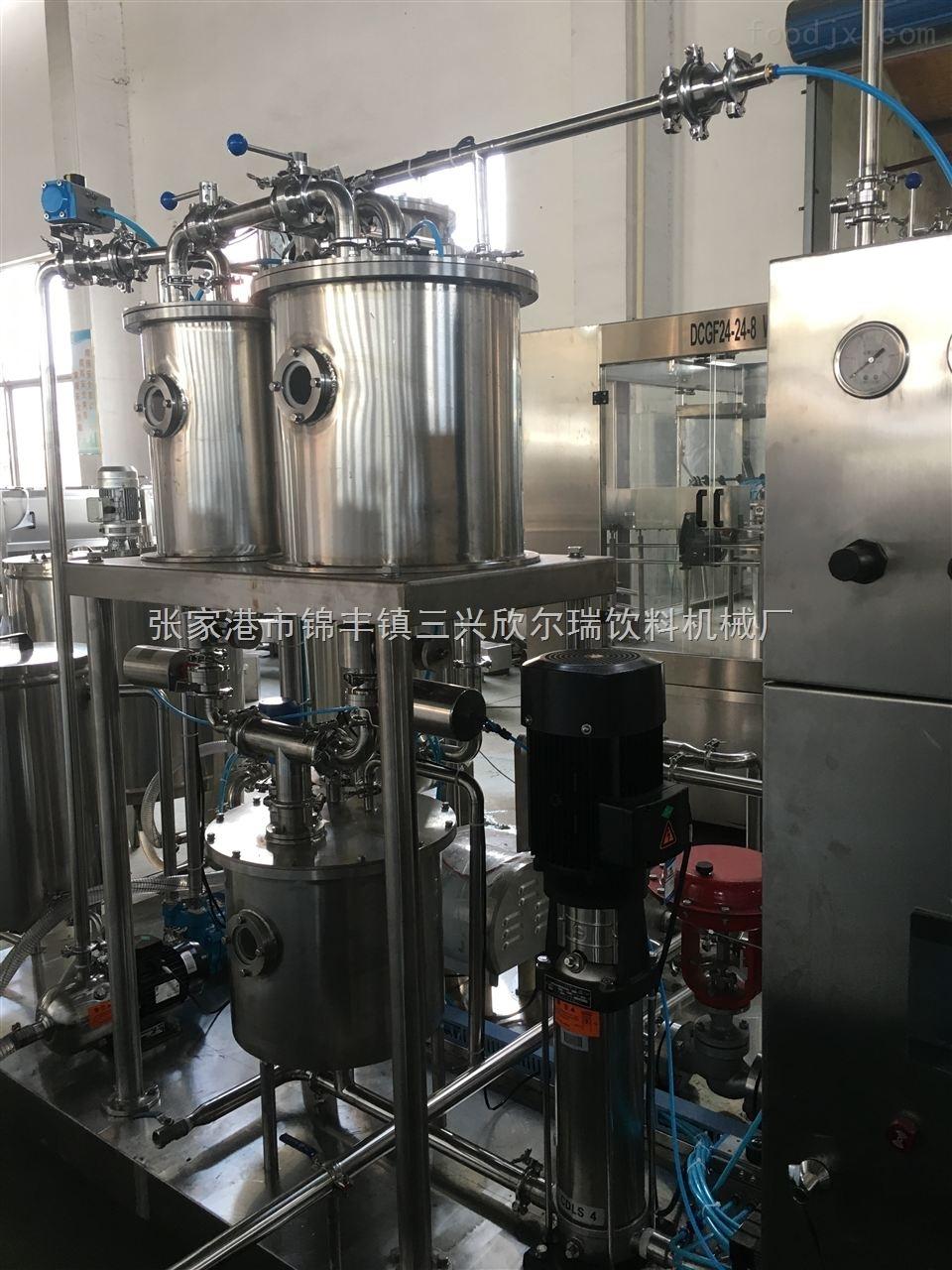玻璃瓶碳酸饮料三合一生产线