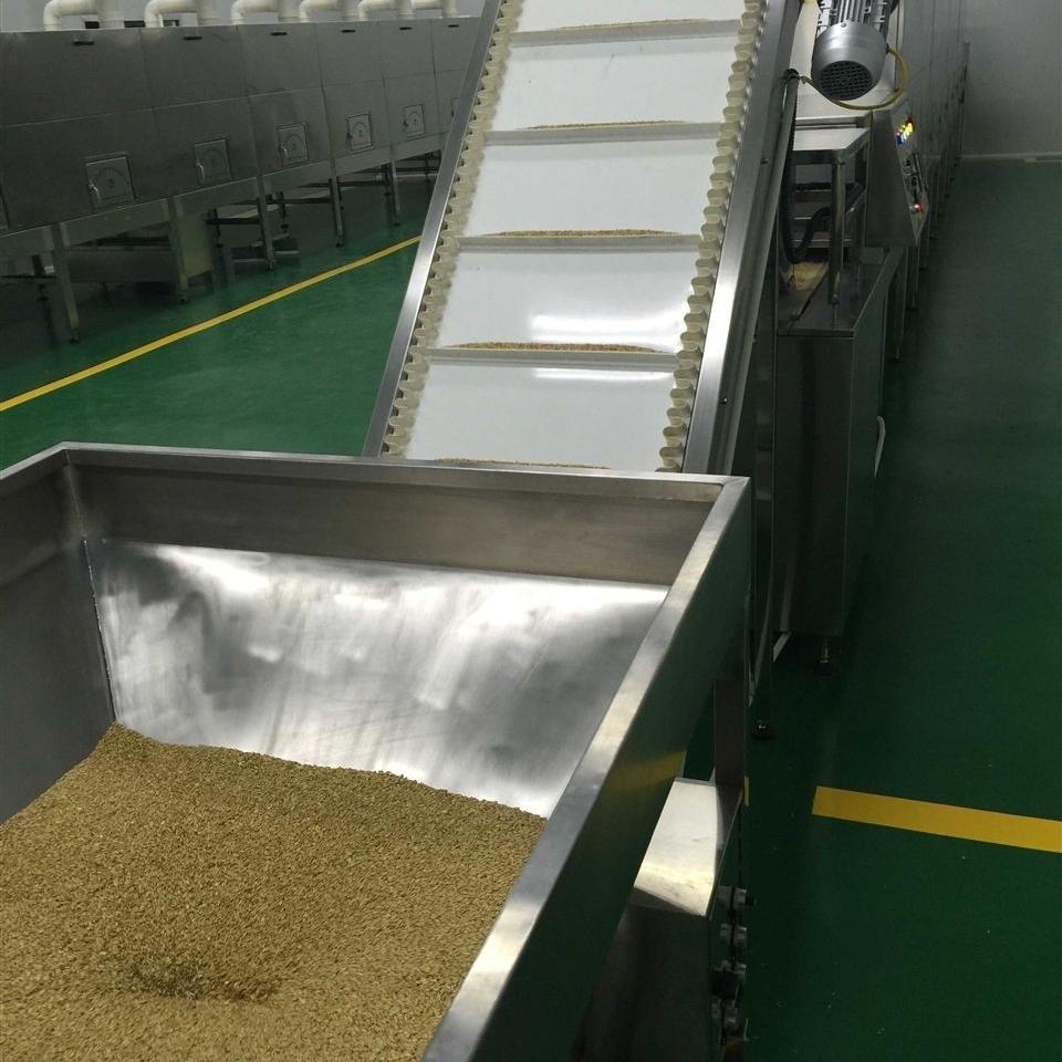 多层微波豆类杂粮熟化设备