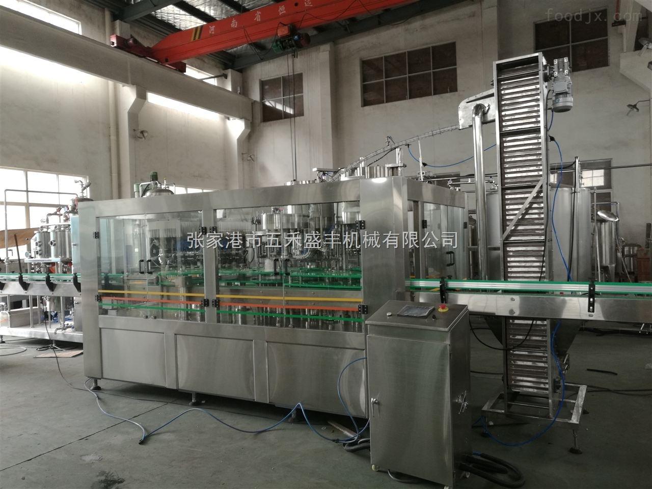 不锈钢含气饮料灌装设备生产线