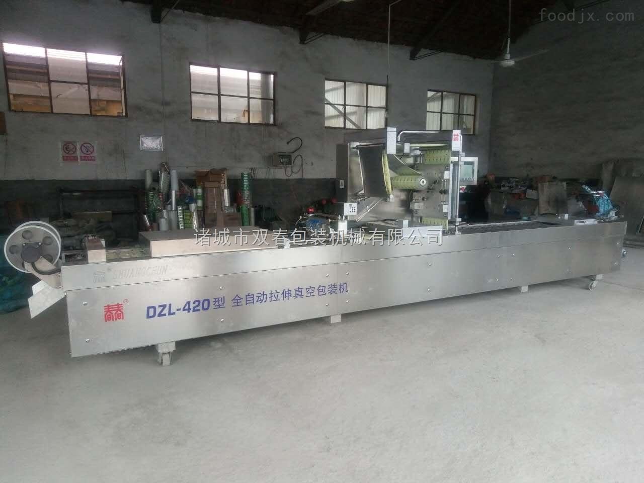 DZL-420内蒙古牛排拉伸膜真空包装机设备