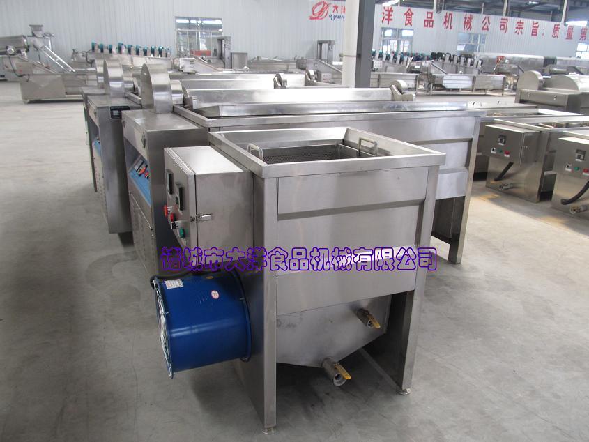 小型蒜粒油炸机,油水分离电炸锅油炸,排渣过程:该系列油炸机双温控