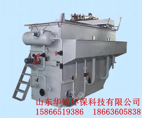 涡凹气浮机设备不需要压力溶气罐,空压机,循环泵等附属设备.