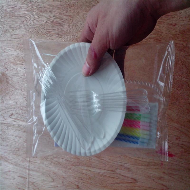 生日蛋糕刀叉盘套装包装机